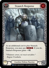 Staunch Response (Red) - Rainbow Foil - Unlimited Edition