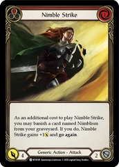 Nimble Strike (Red) - Rainbow Foil - Unlimited Edition