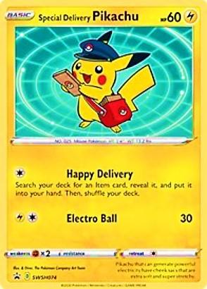Special Delivery Pikachu - SWSH074 - SWSH Black Star Promos