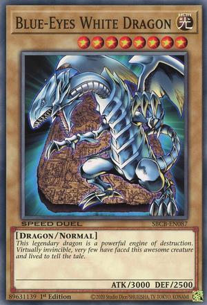Blue-Eyes White Dragon - SBCB-EN087 - Secret Rare - 1st Edition