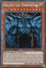Obelisk the Tormentor - SBCB-EN202 - Secret Rare - 1st Edition