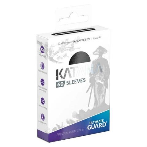 Ultimate Guard - Katana Japanese Size Card Sleeves (60ct) - Black