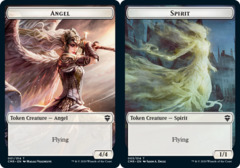 Angel // Spirit Double-sided Token - Foil