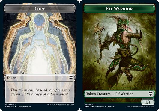 Copy Token // Elf Warrior Token - Foil