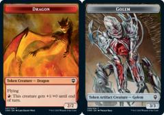 Dragon Token // Golem Token - Foil