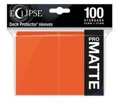 Ultra Pro - Eclipse Pro Matte Standard Sleeves: Pumpkin Orange 100ct