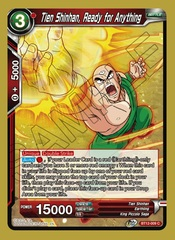 Tien Shinhan, Ready for Anything - BT12-009 - C - Foil