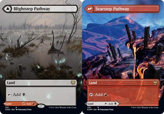 Blightstep Pathway // Searstep Pathway - Foil - Borderless