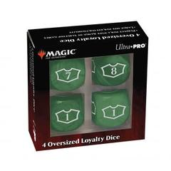 Ultra Pro - Deluxe 22MM Forest Loyalty Dice Set with 7-12 for Magic: The Gathering