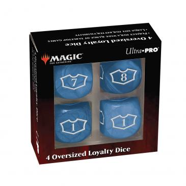 Ultra Pro - Deluxe 22MM Island Loyalty Dice Set with 7-12 for Magic: The Gathering