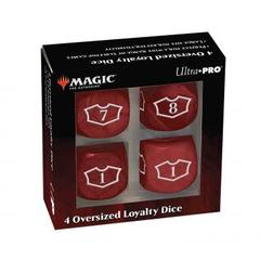 Ultra Pro - Deluxe 22MM Mountain Loyalty Dice Set with 7-12 for Magic: The Gathering