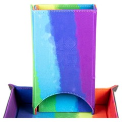 Metallic Dice Games Rainbow Watercolor Fold Up Dice Tower