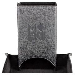 Metallic Dice Games Black Fold Up Dice Tower
