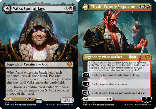 Valki, God of Lies // Tibalt, Cosmic Impostor - Borderless