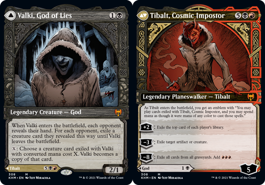 Valki, God of Lies // Tibalt, Cosmic Impostor - Foil - Showcase
