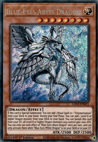 Blue-Eyes Abyss Dragon - LDS2-EN015 - Secret Rare - 1st Edition