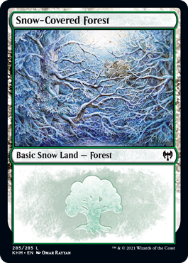 Snow-Covered Forest (285) - Foil