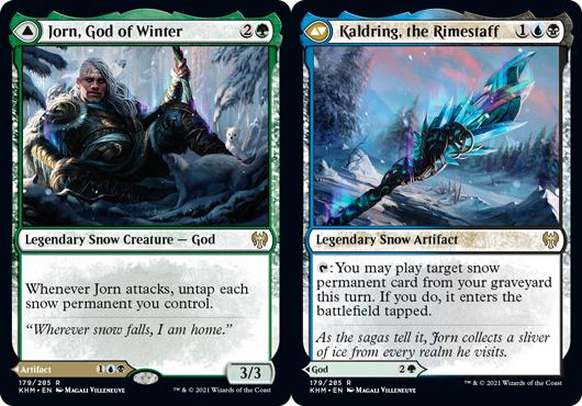 Jorn, God of Winter // Kaldring, the Rimestaff - Foil