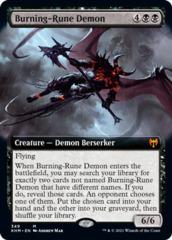 (349) Burning-Rune Demon - EXTENDED ART