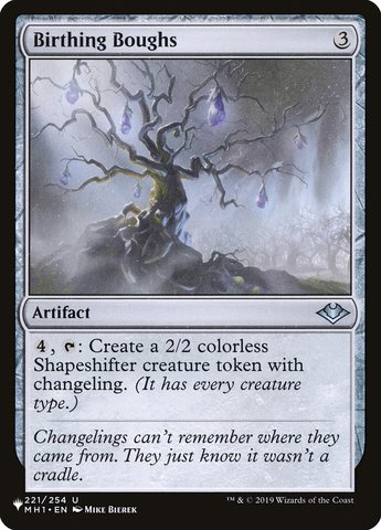 Birthing Boughs - The List