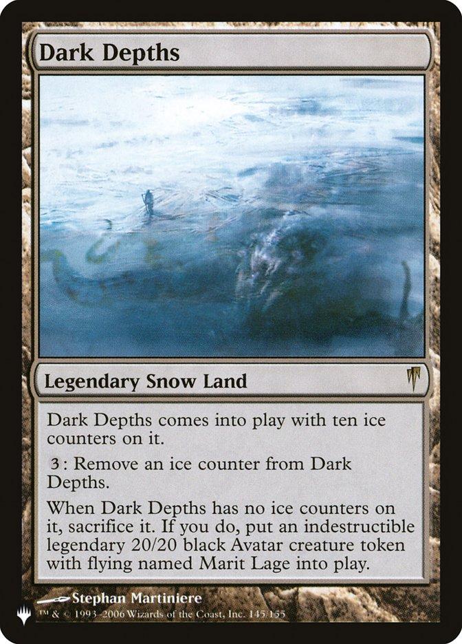Dark Depths - The List