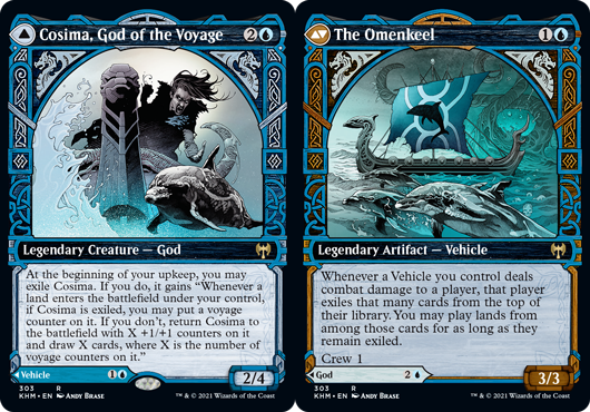 Cosima, God of the Voyage // The Omenkeel - Foil - Showcase