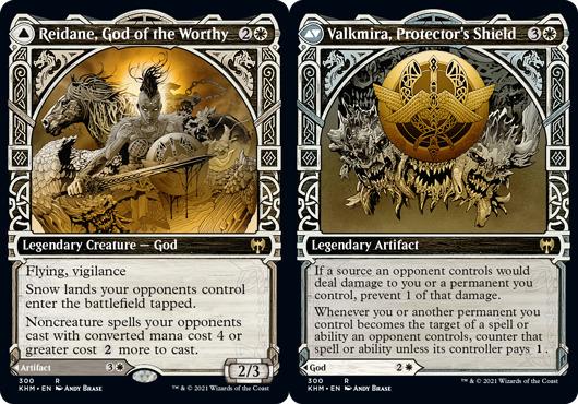 Reidane, God of the Worthy // Valkmira, Protectors Shield - Foil - Showcase