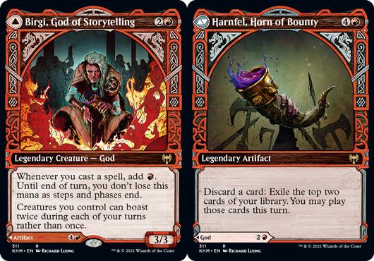 Birgi, God of Storytelling // Harnfel, Horn of Bounty - Showcase