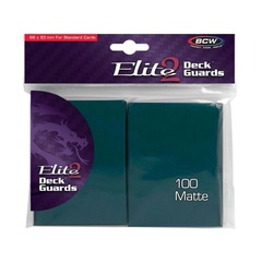 BCW Elite2 Deck Guard Anti-Glare sleeves - Teal - 100 Count Pack