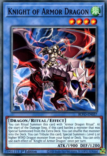 Knight of Armor Dragon - BLVO-EN037 - Common - 1st Edition