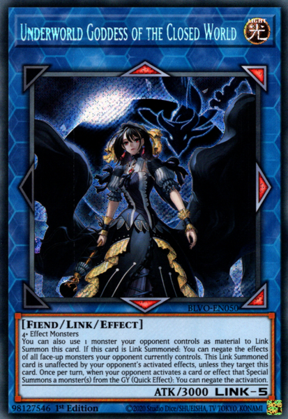 Underworld Goddess of the Closed World - BLVO-EN050 - Secret Rare - 1st Edition