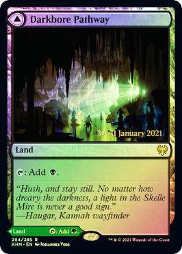 Darkbore Pathway // Slitherbore Pathway - Foil - Prerelease Promo