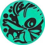 Celebi Collectible Coin - Aqua Rainbow Holofoil (Generation 2)