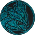 Black Kyurem Collectible Coin - Blue Speckle Holofoil (Generation 5)