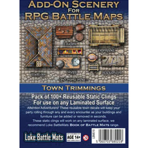 RPG Battle Mats Add-On Scenery: Town Trimmings