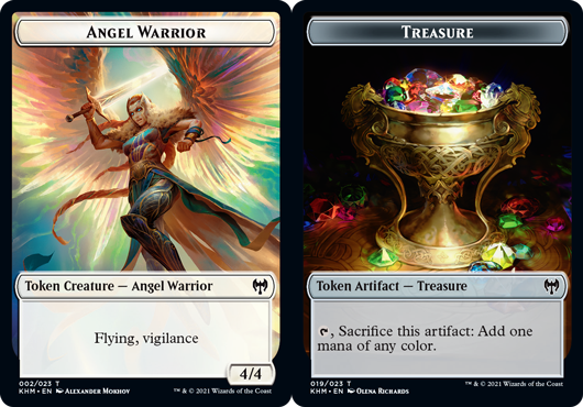 Angel Warrior Token // Treasure Token - Foil