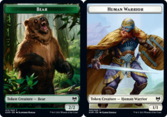 Bear Token // Human Warrior Token - Foil