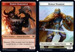 Demon Berserker Token // Human Warrior Token - Foil
