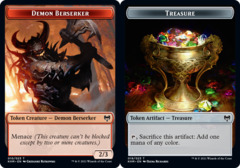 Demon Berserker Token // Treasure Token - Foil
