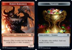 Demon Berserker (010) // Treasure (019) Token - Foil