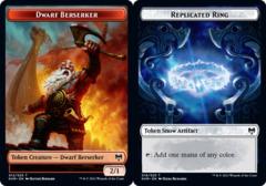 Dwarf Berserker Token // Replicated Ring Token - Foil