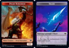 Dwarf Berserker (012) // Shard (001) Token - Foil