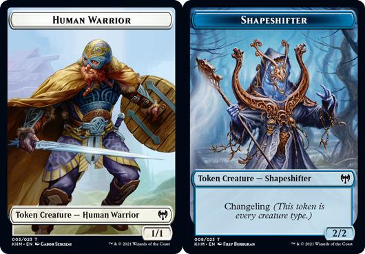 Human Warrior Token // Shapeshifter Token - Foil