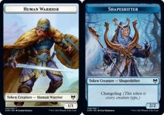 Human Warrior (003) // Shapeshifter (008) Token - Foil