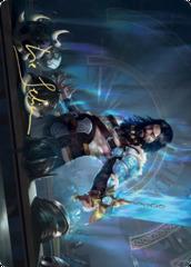 Halvar, God of Battle Art Card - Gold-Stamped Signature