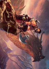 Dragonkin Berserker Art Card - Gold-Stamped Signature