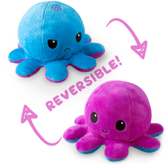Reversible Octopus Plushie - Blue and Purple