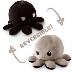 Reversible Octopus Plushie - Black and Gray