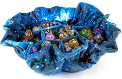 Dice Bag: Galaxy - Velvet Compartment Bag with Pockets