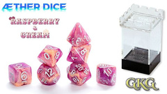 Gate Keeper Games - Aether: Raspberry and Cream 7-Dice Set